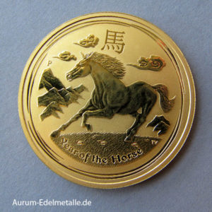 Australien 1 OZ Gold 2014 Lunar II Year of the Horse Pferd