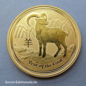 Australien 1 OZ Gold 2015 Lunar II Goat Ziege