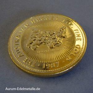 Australien Kangaroo Nugget 1 OZ Goldmünze 1987