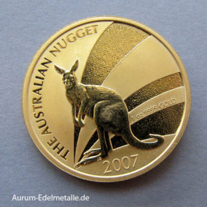 Australien Kangaroo Nugget 1 OZ Goldmünze 2007