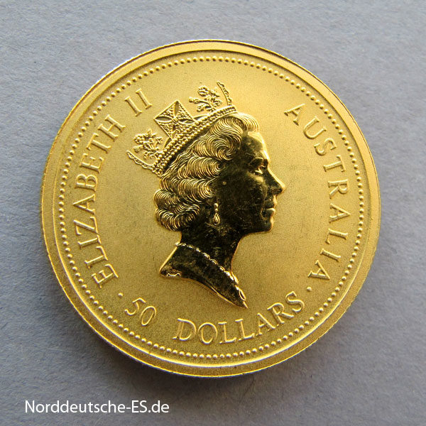 Australien Kangaroo Nugget 1_2 Unze Gold