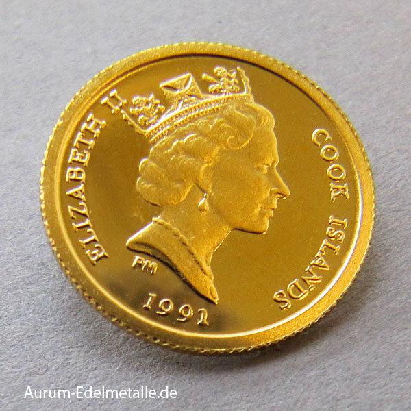 Cook Islands 25 Dollars 1_25 Unze 1991 Hummel-Kolibri