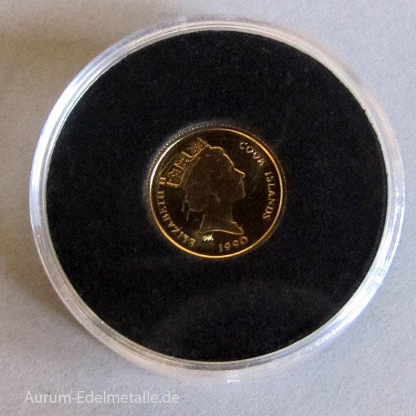 Cook Islands 25 Dollars Gold 1_25 Unze 1990