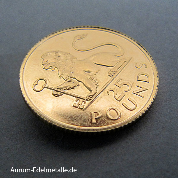 Gibraltar 25 Pounds Goldmünze Löwe 1975