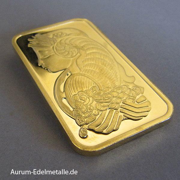 Goldbarren 1 oz PAMP Suisse Fortuna