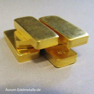 Goldbarren 20 Gramm historische Form