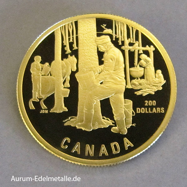 Kanada 200 Dollars Sugaring of Spring 1995 Gold Zertifikat