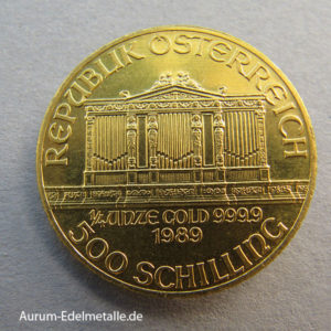 Österreich 1_4 oz Gold Wiener Philharmoniker 500 Schilling
