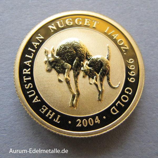 Australien 1_4 oz Kangaroo Nugget Goldmünze 2004
