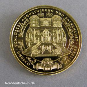Deutschland 100 Euro Goldmünze 1_2 oz Schloss Augustusburg