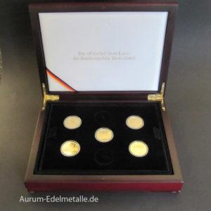 Deutschland 5 x 100 Gold-Euros 1_2 Oz UNESCO Welterbe Set