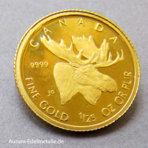 Kanada 1_25 oz Gold 50 Cents 2004 Elch