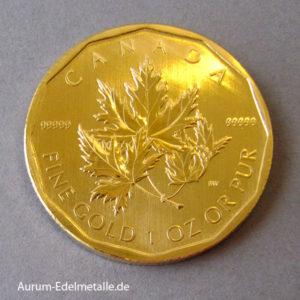 Kanada Maple Leaf 99999 Superfeingold 1 oz 2007