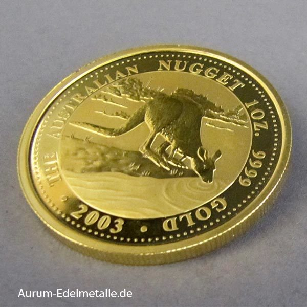Australien 1 Unze Gold Nugget Kangaroo 2003.jpg