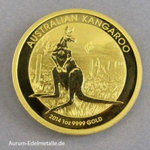 Australien Kangaroo Gold 1 Unze 2014