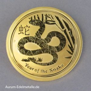 Australien Lunar II Gold 1oz Year of the Snake 2013