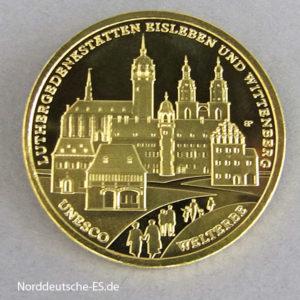 100 Euro Luthergedenkstätten Eisleben Wittenberg