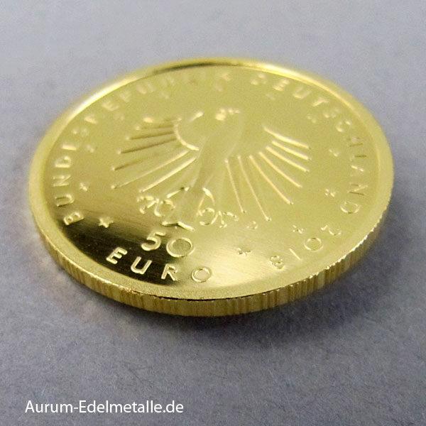 Deutschland 50 Euro Goldmünze 2018 Kontrabass