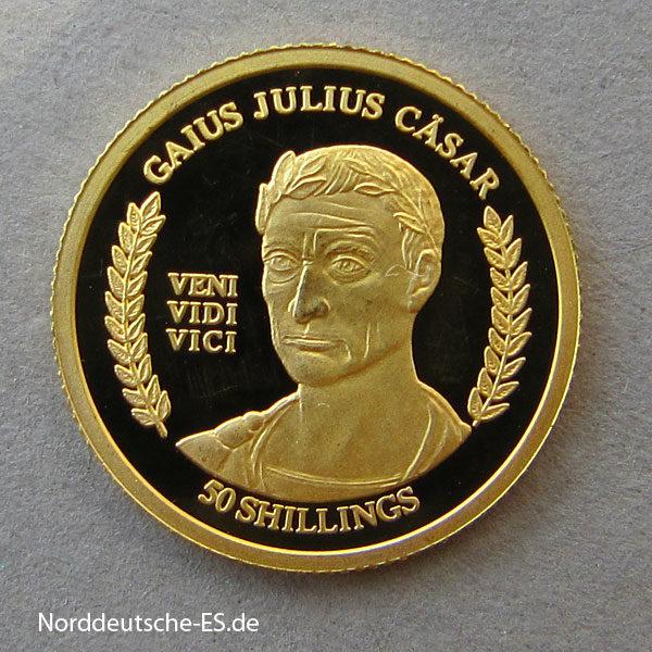 Somalia 1_25 oz 50 Shillings 2004 Julius Cäsar Gold