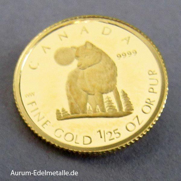 Canada 1_25oz Gold Wolf 2007