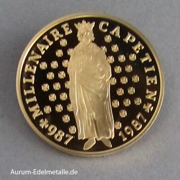 Frankreich Goldmünze 10 Francs Hugo Capet