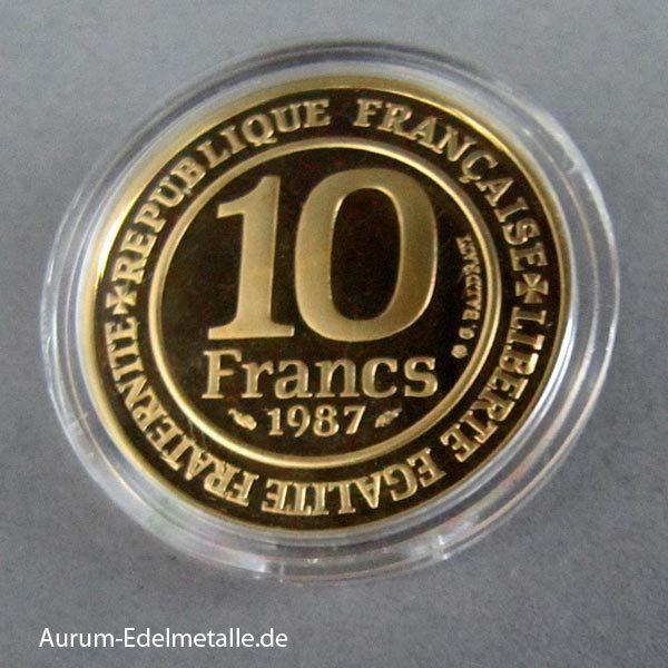 10 Francs Goldmünze 1987 Hugo Capet