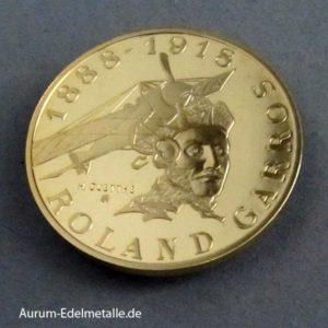 Frankreich 10 Francs Gold 1988 Roland Garros