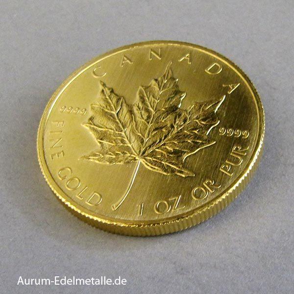 Goldmünze Maple Leaf 1 oz