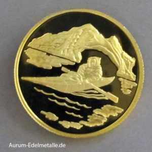 Kanada 100 Dollars 1980 Inuk kayak 1_2 oz Gold