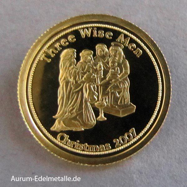 Palau 1_25 Unze Goldmünze three wise men 2007