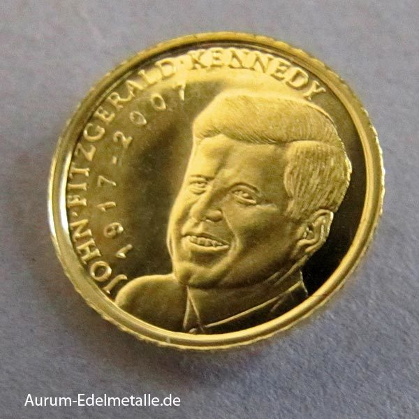 Palau kleinste Goldmünze 0_5g Kennedy 2007