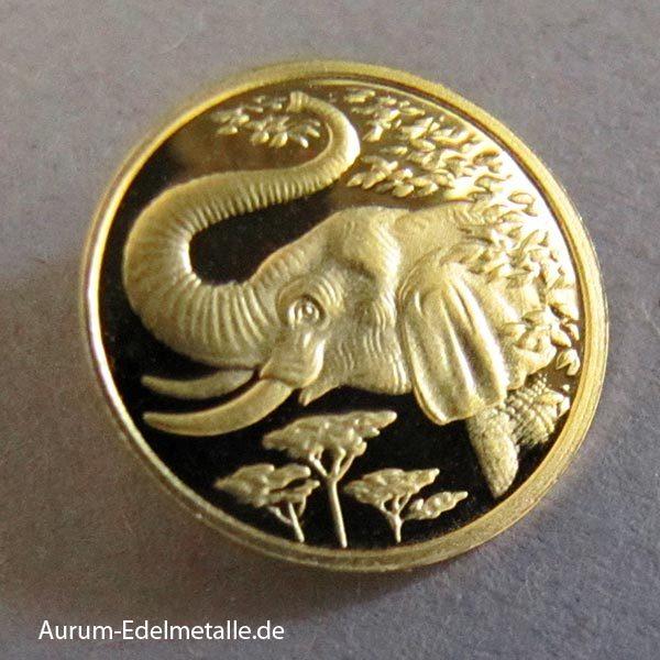 Somalia 200 Shilling Elefant 0_5 Gramm Feingold 2005