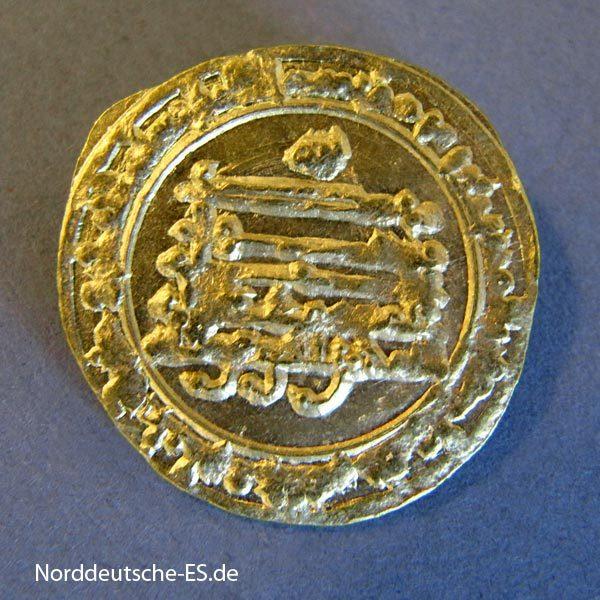 Abbasiden Goldmünze 888-889 Al-Mutamid ala Allah