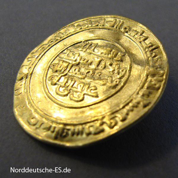 Fatimiden Gold Dinar 1036-1094 Kalif Al Mustansir Billah