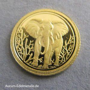 250 Shillings Elephant 2004 0_5 Gramm gold Somalia