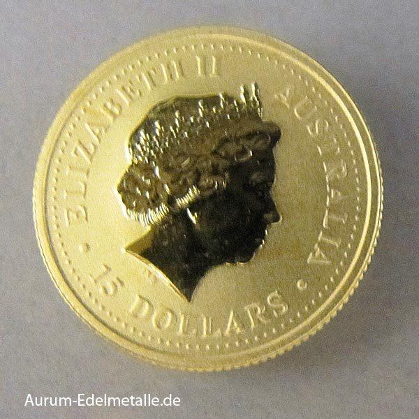 Australien 1_10 Oz Kangaroo Nugget Gold 2000