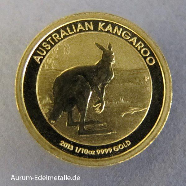 Australien 1_10 Oz Kangaroo Goldmünze 2013