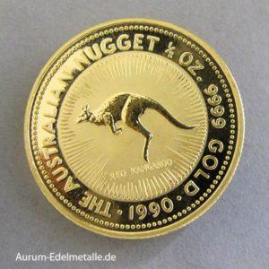 Australien 1_2 ozKangaroo Nugget 1990