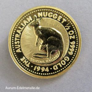 Australien 1_2 oz Kangaroo Nugget Gold 1994