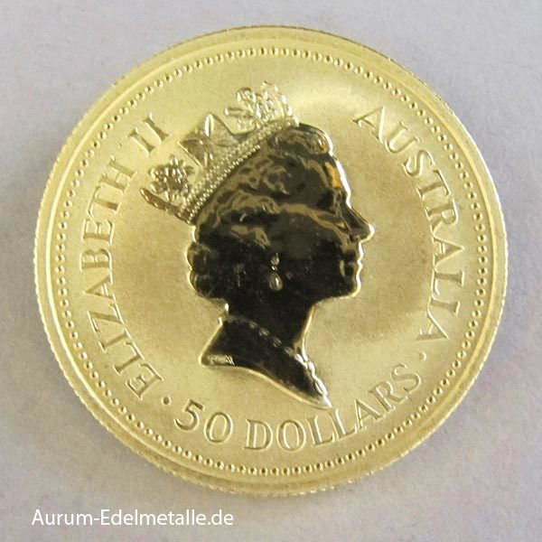 Australien Nugget 1_2 oz 1988 Gold