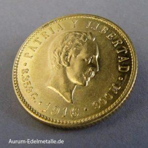 Cuba 5 Pesos 1916 Cinco Pesos Kuba