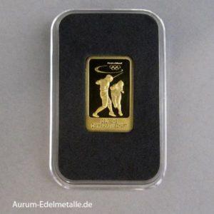 Goldbarren 5 g Deutsche Olympiamannschaft Fechten