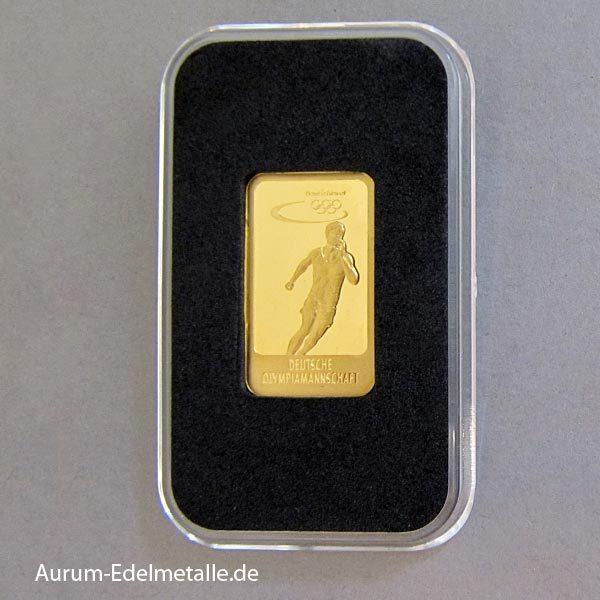 Goldbarren 5 g Deutsche Olympiamannschaft Laufsport