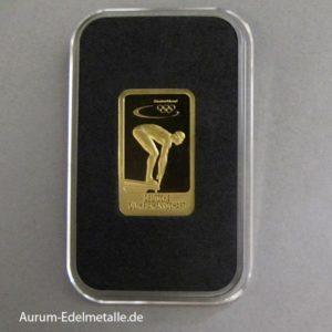 Goldbarren 5 g Deutsche Olympiamannschaft Schwimmen