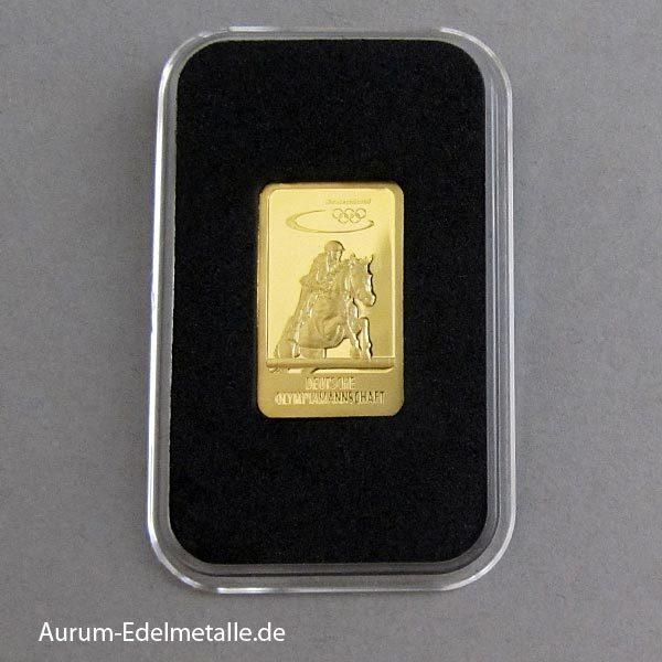 Goldbarren 5 g Deutsche Olympiamannschaft Springreiten