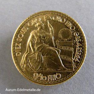 Peru 10 Soles Goldmünze 1956-1979