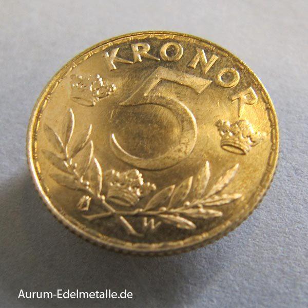 Schweden 5 Kronor Gustav V Goldmünze 1881-1920