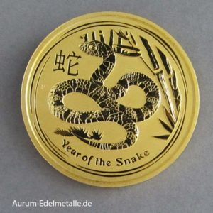 Australien Lunar II Gold 2 oz Year of the Snake 2013