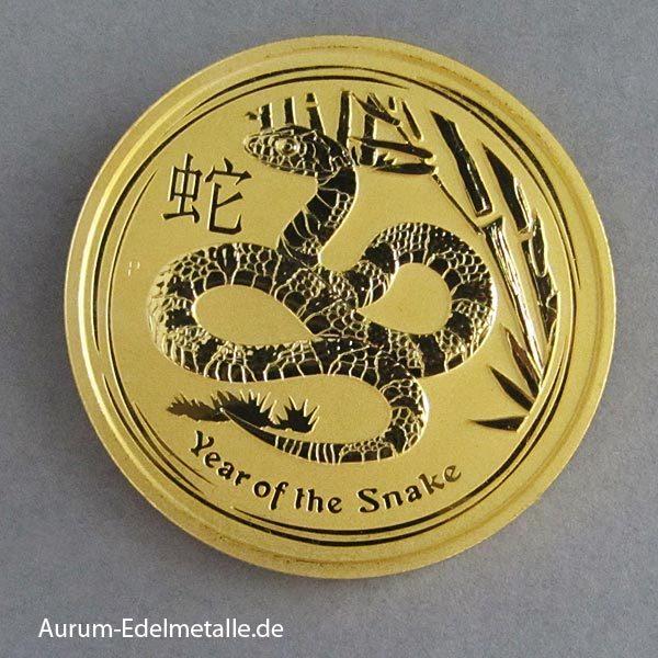 Australien Lunar II Gold 2 oz Year of the Snake 2013