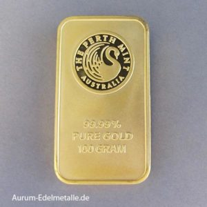 Goldbarren 100 g Perth Mint Kangaroo